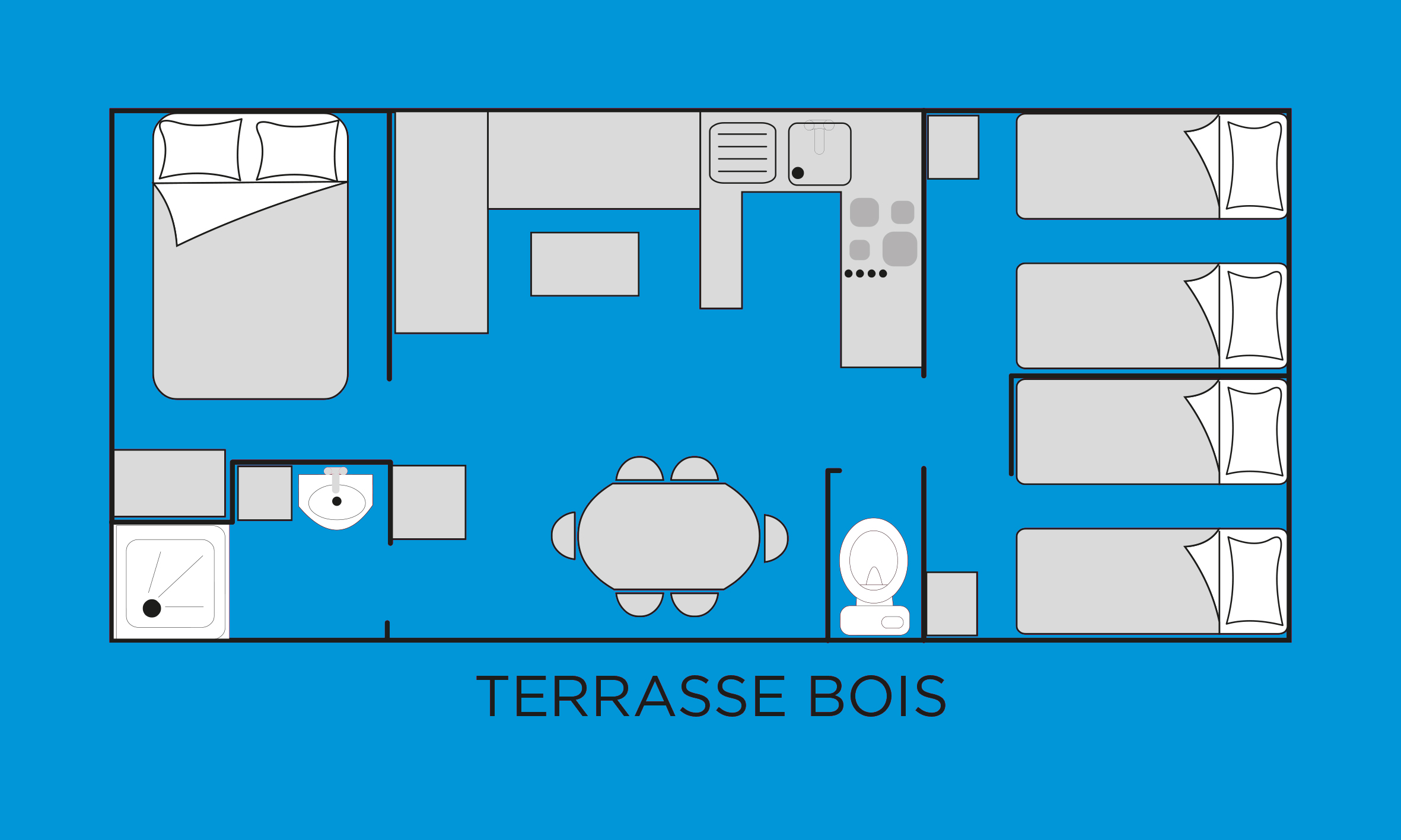 Bellsol Mobil home 3 chambres 6/7 places